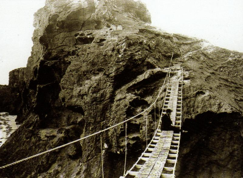 Carrick-a-Rede rope bridge, old photo